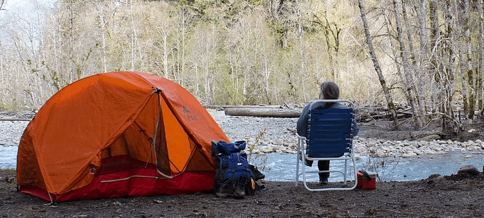 Camping supplies for financing.