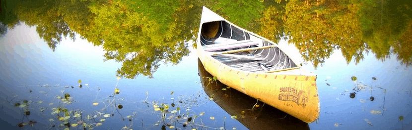 A canoe that was financed.