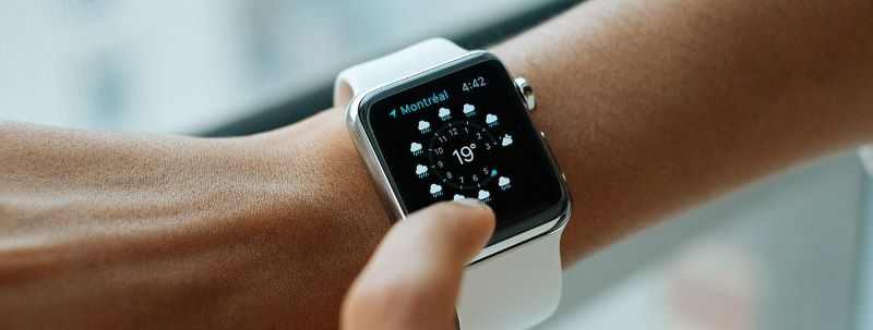 A smart watch purchased with electronics financing.